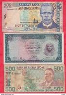 Autres-Afrique 8 Billets 6  Dans L 'état Et 2 état Moyen   Lot N °1 - Billetes