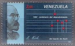 Venezuela 1987 - 100 Yr Discovery Of TBC Bacil By Robert Koch - Michel 2407, Yvert 1279A  - MNH, Neuf, Postfrisch - Venezuela