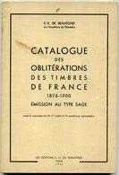 France Catalogue Des Oblitérations Sur Timbre Type Sage   De Beaufond   1960 - Philatélie Et Histoire Postale