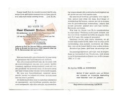 D 765. CLEMENT NOËL - Ere-ambtenaar Nat. Maatsch. Der Belg. Spoorwegen - °ERPE 1904 / +BRUSSEL 1968 - Images Religieuses
