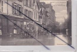Troyes (10) Pendant L' Inondation 22 Janvier 1910 -Rue De L'Hôtel De Ville - Troyes
