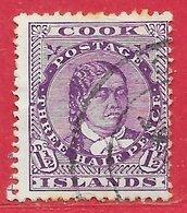Cook (îles) N°27 1,5p Violet (dentelé 14-14,5) 1913-19 O - Cook Islands