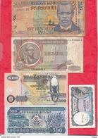 Autres-Afrique 9 Billets  6 Dans L 'état 2 état Moyen Et 1 Usagé   Lot N °3 - Billets