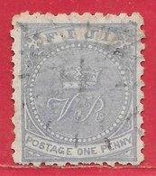 Fidji N°29 1p Outremer (dentelé 10-11) 1882 O - Fidschi-Inseln (...-1970)