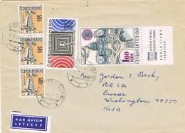 32914. Carta Aerea PRAHA (Checoslovaquia) 1968 To USA - Checoslovaquia