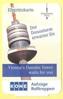 AUSTRIA - VIENNA - Donauturm Wien - Vienna's Danube Tower - Ticket - Eintrittskarte - Used - Biglietti D'ingresso