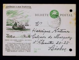 Pedro Alvares Cabral Famouse Explorers Discoveries 1500 BRAZIL Vera Cruz Postal Stationery 1957 Portugal #8045 - Esploratori