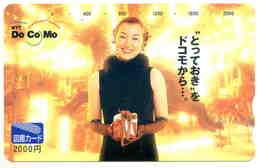 FEMME - WOMAN - GIRL - Télécarte Japon - Personen