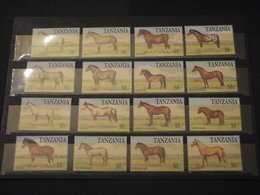 TANZANIA - 1991 CAVALLI 16 VALORI - NUOVI(++) - Tanzania (1964-...)