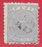 Fidji N°29 1p Outremer (dentelé 10-11) 1882 (1 JY 1887) O - Fiji (...-1970)