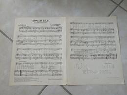 Bonsoir Lily (Musique Huddie Ledbetter & John Lomax)(Paroles Marc Lanjean)- Partition - Liederbücher