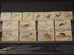 TANZANIA - 1990 UCCELLI 12 VALORI - NUOVI(++) - Tanzania (1964-...)