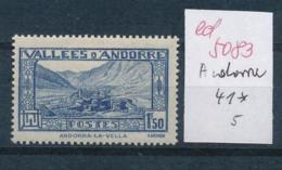 Andorra  Nr. 41 *   (ed5083 ) Siehe Scan - French Andorra