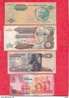 Autres-Afrique 8 Billets 6 Dans L 'état 2 état Moyen  Lot N °6 - Billets