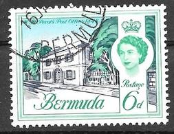 1962 6d Queen Elizabeth, Used - Bermuda