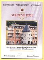 Biglietto Da Visita E Portachiave Porta - ITALIA - ITALY - ITALIE - Brunico/Bruneck - Hotel Goldene Rose - Cartoncini Da Visita