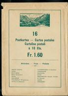 Carte Illustré :  Enveloppe D'origine !!! Des 16 Cartes De 1928 Portant Le N° 115 (Zumstein 2009)SANS Les Cartes  !!!! - Entiers Postaux