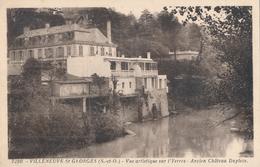 94) VILLENEUVE SAINT-GEORGES : Vue Artistique Sur L'Yerres - Ancien Château Dupleix - Villeneuve Saint Georges