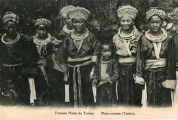 CHINE TONKIN.  CPA.  Femmes Miaos Du Tonkin.  Miao Women. - China