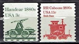 USA - Mi-Nr 1616 + 1679 Postfrisch / MNH ** (E1125) - Eisenbahnen
