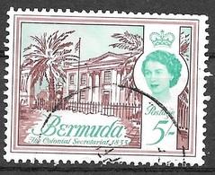 1962 5sh Queen Elizabeth, Used - Bermuda