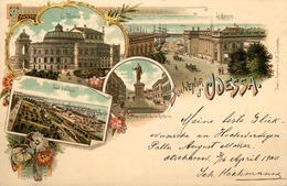 Gruss Aus Odessa - 1900 !!! - Ukraine Ukrainia Russia Russie - TP + Cachet + Oblitérations !!! - Ukraine