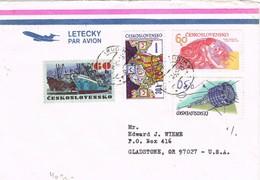 32916. Carta Aerea CHRUDIM (Bohemia) Checoslovaquia 1992 To USA - Cartas