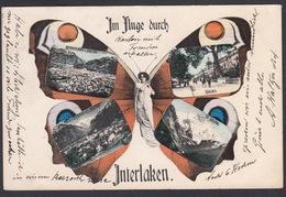 CPA  Suisse, Im Fluge Durch  INTERLAKEN, 1905 - BE Berne