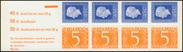 Markenheftchen 18 Königin Juliane Und Ziffer 1974 Mit 3 Tarifen Und PB 16a, ** - Heftchen Und Rollen