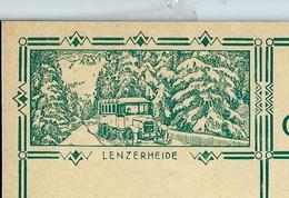 Carte Illustré Neuve N° 115 - 010  LENZERHEIDE (autocar Postal En Hiver)   (Zumstein 2009) - Entiers Postaux