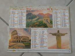 Muraille De Chine, Le Cousée, Taj Mahal, Machu Picchu Pérou, Pyramide Mexique - Calendrier 2019 Oller - - Calendriers