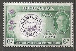 1948 First Stamp, 6d, Mint Light Hinged - Bermuda