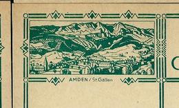 Carte Illustré Neuve N° 115 - 001  AMDEN / St . Gallen  (Zumstein 2009) - Entiers Postaux