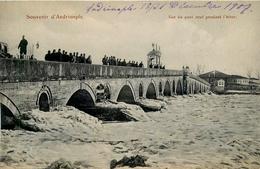 Souvenir D'Andrinople - Edirne - Vue Du Pont Pendant L'Hiver - Turkey Turquie - Animation - Turkey