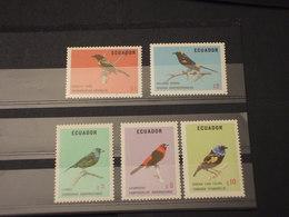 EQUADOR - 1973 UCCELLI 5 VALORI - NUOVI(++) - Ecuador