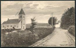 1913 Denmark Funen Broholm Kirke Church Tommerup Postcard - Copenhagen - 1913-47 (Christian X)
