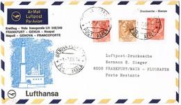 32917. Carta Aerea First Fligth, Erstflug, Primer Vuelo GENOVA - Frankfurt 1968 - 6. 1946-.. Repubblica