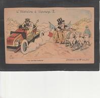 Illustrateur G. LION - L'Histoire à L'envers -  Childéric Et Mr Loubet - Lion