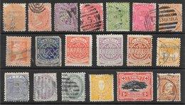 Grande-Bretagne Colonies D'Océanies Diverses Classiques Lot De 19 Tp 1877-1910 O, * & (*) - Stamps
