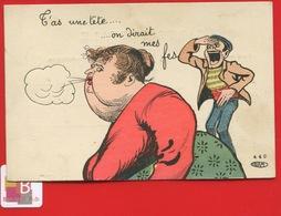 CPA Illustrateur Dite PETOMANE YRIAM TETE FESSES Grosse Femme Obésité Pet - Humour