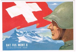 Einheitskarte Bat Fus Mont 8 - WWII - 1939 - Sonstige