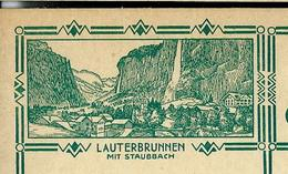 Carte Illustré Neuve N° 115 - 009  LAUTERBRUNNEN Mit Staubbach  (Zumstein 2009) - Entiers Postaux