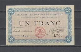 Chambre De Commerce Du CHAMBERY  Billet De 1.00F - Chamber Of Commerce