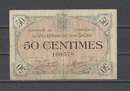 Chambre De Commerce De VILLEFRANCHE SUR SAÔNE  Billet De 50c - Chamber Of Commerce