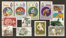 Ping Pong - Tennis De Table - Petit Lot De 12° Dont 1 Série Complète De Corée - Stamps