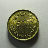 Turkey 500 Lira 1991 - Türkei