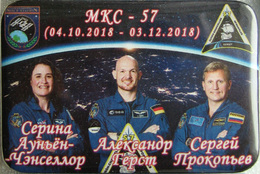 191-1 Space Russian Pin.  ISS-57 Gerst, Procopiev, Aunon-Chancellor - Space