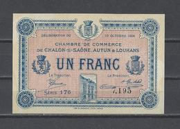 Chambre De Commerce De CHALON SUR SAÔNE  Billet De 1.00F - Chambre De Commerce