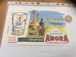 Buvard «AMORA LA MOUTARDE DE DIJON - Le Gobelet ÉQUATEUR» - Mostard
