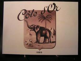 """AN - 206 - Publicité - Chocolat """" Côte D'Or """" - 1er Logo """"éléphant"""" Créé En 1906 S'inspirant Du Timbre Ghanéen... - Advertising"""